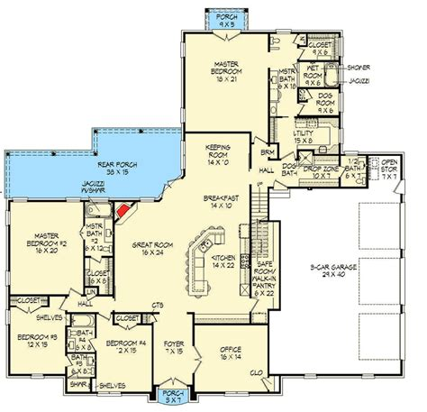 two master suites 15844ge architectural brick beauty with 2 master suites 68463vr