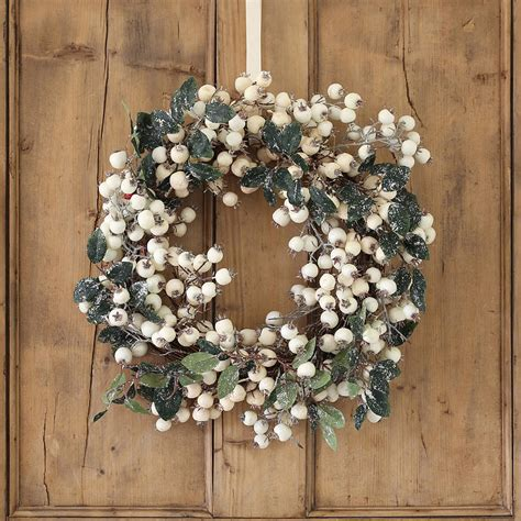 white snowberry christmas wreath by ella james
