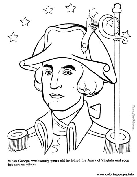 coloring book printers usa presidents day united states usa george washington