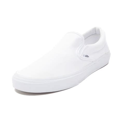 Vans Slipon vans slip on skate shoe white 499243