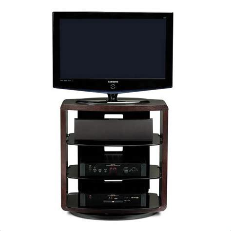 Single Shelf Tv Stand by Valera Single Wide 4 Shelf Swivel Tv Stand In Espresso Oak 9721 Es