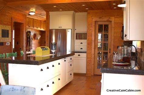 Log Kitchen Cabinets Log Cabin White Kitchen Www Pixshark Images Galleries With A Bite