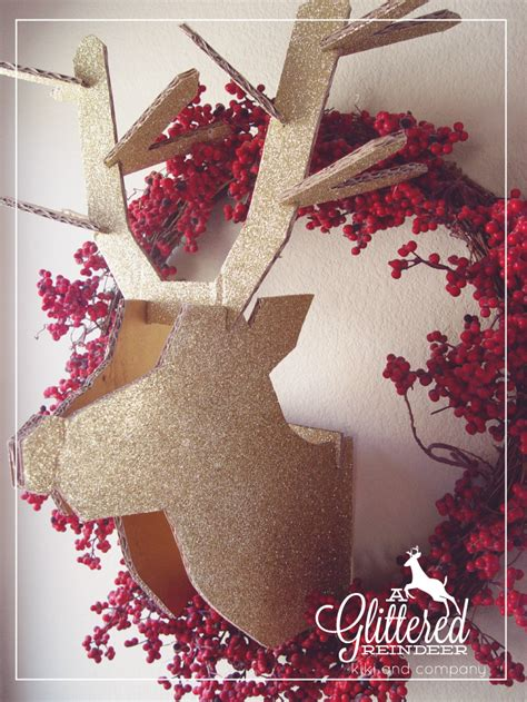 diy decorations reindeer diy glittered reindeer company