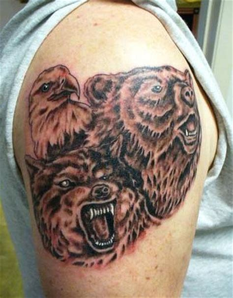 Bear Tattoos And Designs Page 187 Eagle And Wolf Tattoos