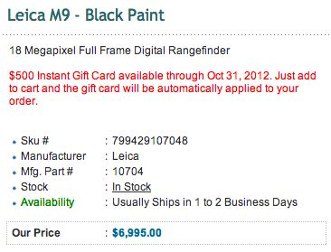 leica us offers up to $1,000 discount for leica m9 and m9