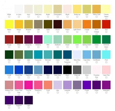 color swatches for custom wedding shoes accessories