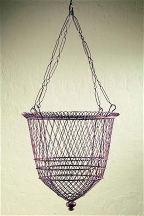 Wire Hanging Planters by Rusted Brown Wire Hanging Basket Traditional