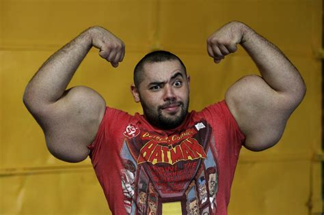 worlds biggest biceps egyptian popeye breaks world record the times of israel