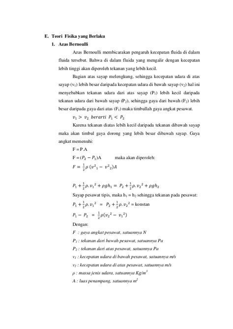 Membuat Makalah Fisika | makalah fisika pesawat