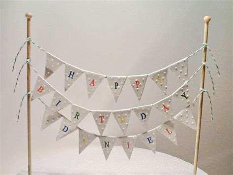 Bunting Flag Happy Anniversary Banner Happy Annive By Bosballoon cake bunting cake topper cake banner flags happy birthday
