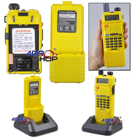 Sale Battery Baofeng Uv 66 baofeng uv 5r uu yellow radio upgrade 3800mah battery 409shop walkie talkie handheld transceiver