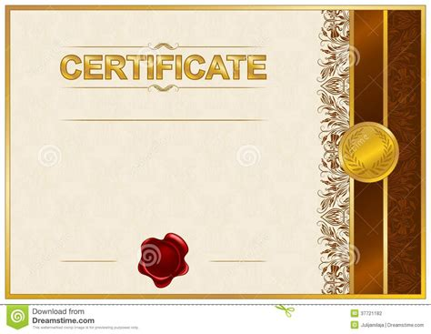 elegant template of certificate diploma stock