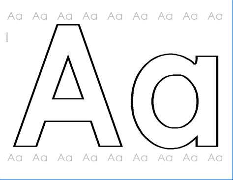The letter aa colouring pages