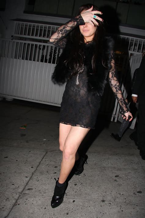Lace Pumps A La Lindsay Lohan by Lindsay Lohan In Lindsay Lohan At The Mondrian Hotel In La