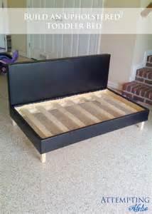 Toddler Bed Upholstered White Boy S Upholstered Toddler Bed Diy