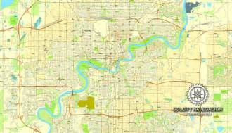 edmonton map of canada edmonton map in adobe pdf printable and fully editable