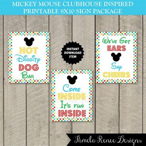 instant printable 8x10 mickey mouse clubhouse