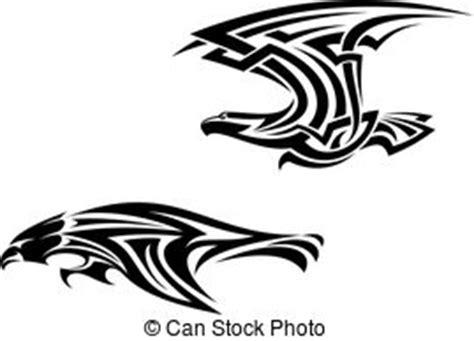 Aquila Tribal Set falco tribale falco aquila tatuaggio set aquila