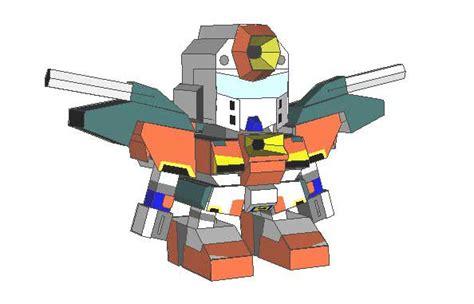 Gundam Papercraft Template - simple sd gundam papercraft free template