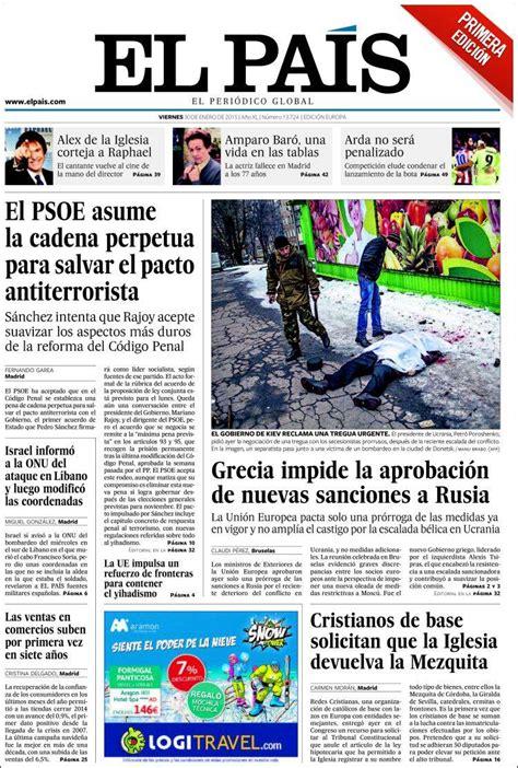 noticias sobre irak el pa s portadas periodicos 30 de enero de 2015 periodicos