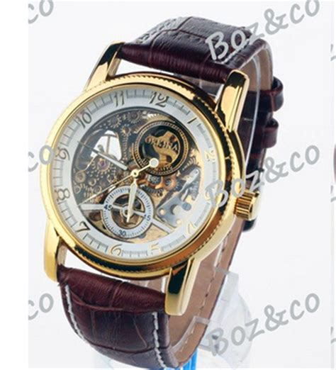 2015 new s brown leather belt automatic watches luxury