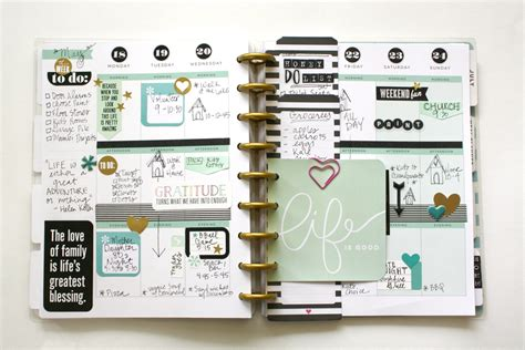 planner layout a minty happy planner spread helpful planner tips me