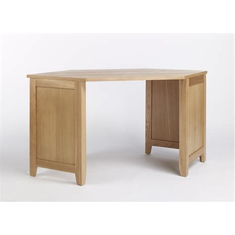 Compton Solid Oak Furniture Corner Office Pc Computer Desk Corner Desk Furniture