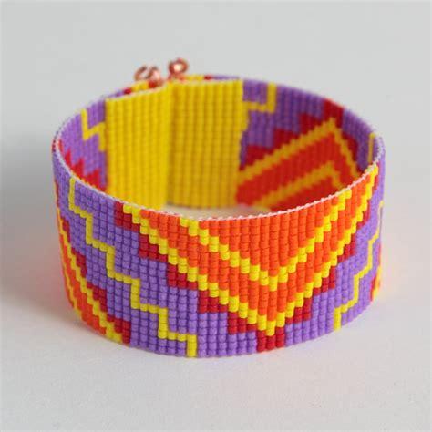 bead loom bracelets for sale sale tribal zigzag bead loom cuff bracelet aztec bright
