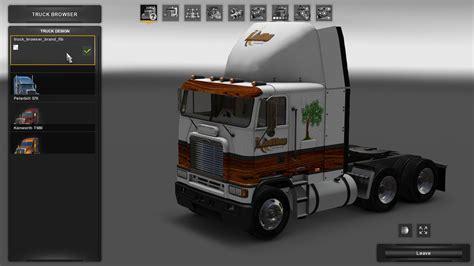 wooden kenworth truck the wood shop v1 skin american truck simulator mod ats mod