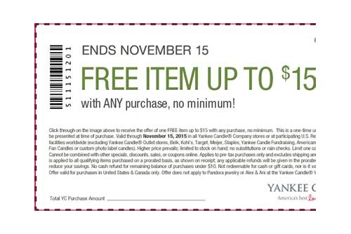 yankee candles store coupons