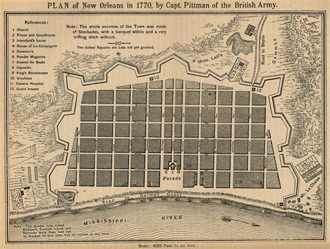 new orleans historical maps hist 240 a history of new orleans some historical maps