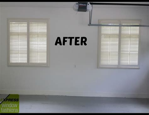 Garage Window Curtains newstyle shutters in garage