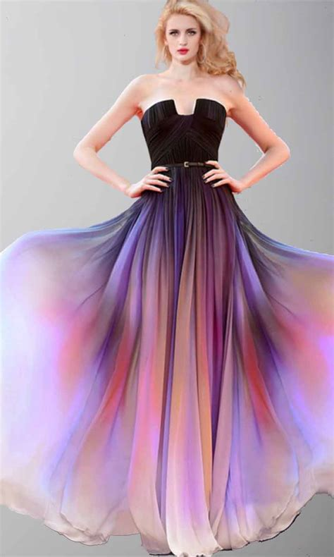 Prom Wedding Dresses Uk by Beautiful Sunset Ombre Cape Prom Dresses Ksp421