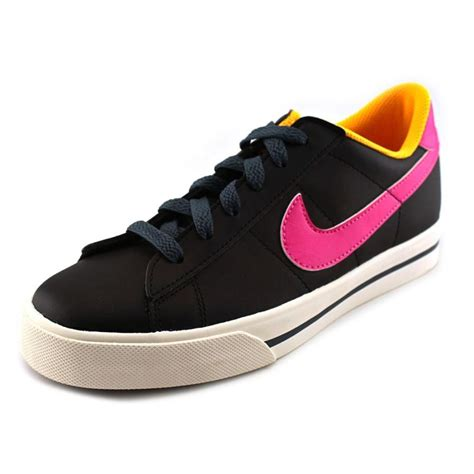 black athletic shoes womens nike sweet classic leather black athletic sneakers