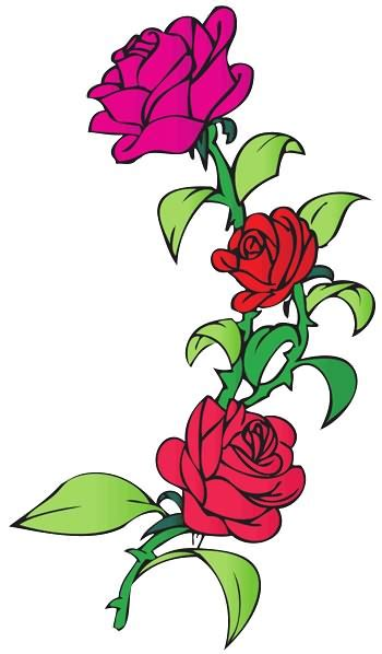 rose tattoo clipart designs roses clipart best