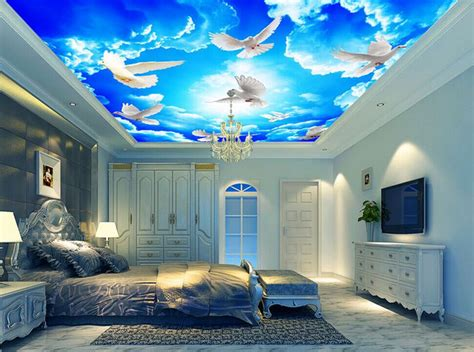 Talenan Lukis Custom Wall Decor Hiasan Rumah mural artist picture more detailed picture about custom shipping backdrop ceiling sky