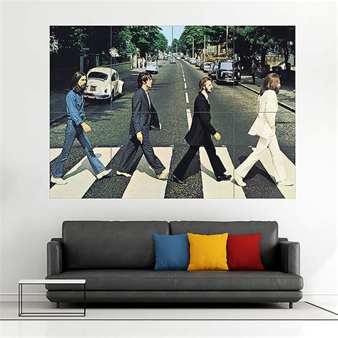 Blockers Poster The Beatles Road Album Cover Block Wall Poster