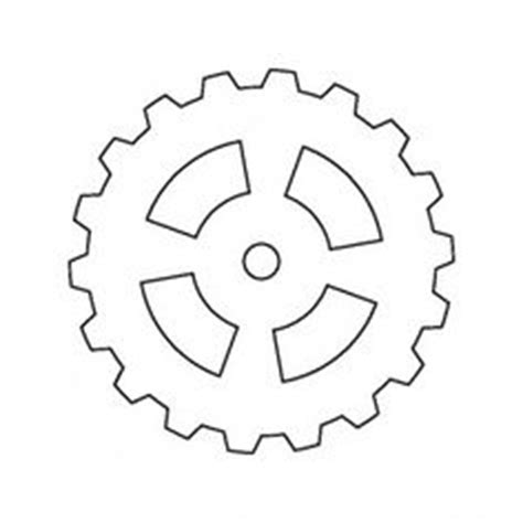 printable gear templates gear pattern use the printable outline for crafts