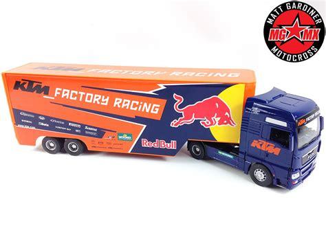 bull motocross race ktm factory racing bull motocross race truck lorry rig