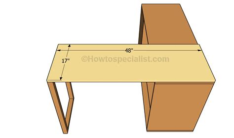 L Shaped Desk Plans Office Desk Plans Howtospecialist How To Build Step By Step Diy Plans