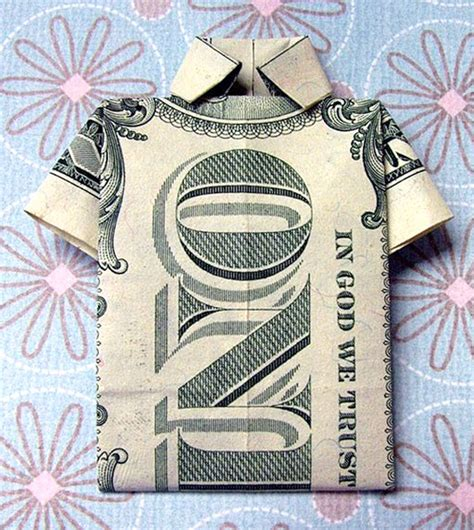 Origami Money Shirt - 50 spectacular origami designs made from money