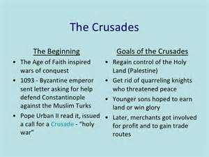 Crusades and changes in medieval society