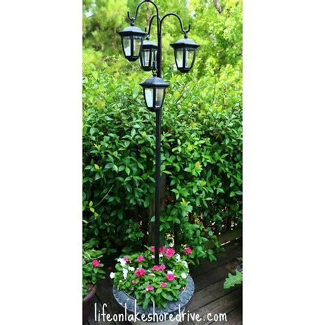 Solar Light Planter by Easy Diy Solar Lights L Post With Flower Planter