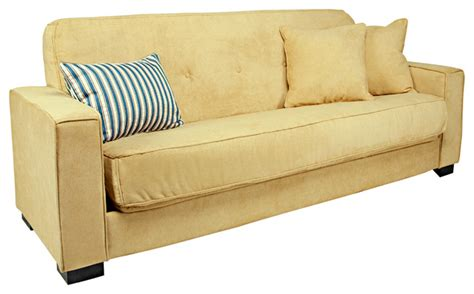 butter yellow sofa angelo home alden convert a couch parisian butter yellow