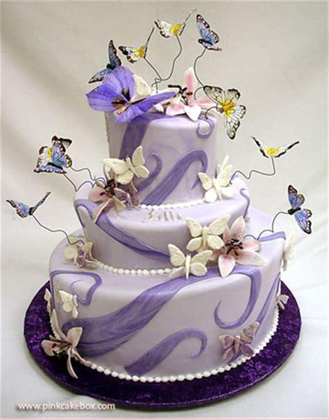 Carmageddon Wedding Ideas: Purple Butterfly Wedding Cakes