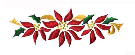 poinsettia designs poinsettia floral border 2 embroidery design