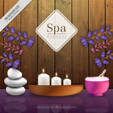 decoracion spa spa background with decoration vector free download