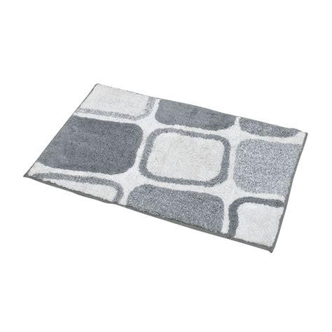 tappeto quadrato cool tappeto da bagno spugna quadrati bianco e grigio with