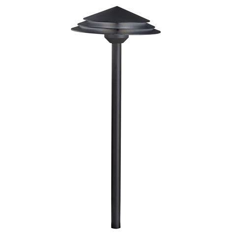 küchenle led kichler lighting textured black led path light