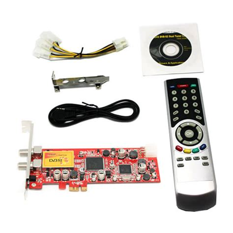 Remote Tv Tuner Advance tbs6281 dual freeview hd low profile pcie tv tuner card dvb t2 ebay